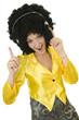Disco -  femme avec un casque