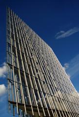 Modern glass skyscraper at Heilbronner Strasse in Stuttgart, Ger