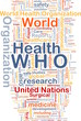 World health organization WHO background concept