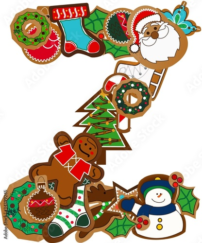 z gingerbread alphabet patch