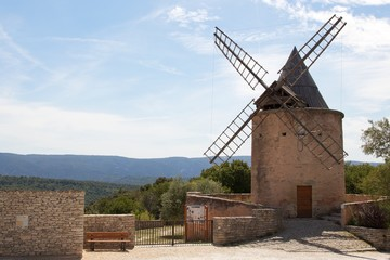 Hilltop windmill in Goult, France