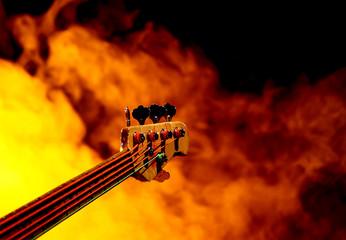 Gitarre beim Konzert
