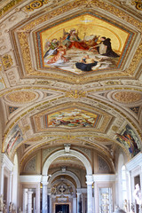 Vatican Museums - Gallery of Vatican. Italy, Rome.