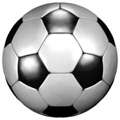 Fussball weiss schwarz