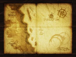Schatzkarte 1868 Treasure Island Plan Map