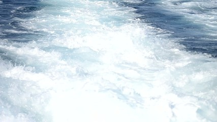 Scia di una barca a motore