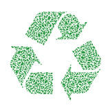 Recycle symbol made by foliage.