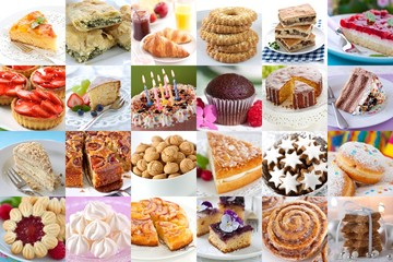Collection of baked products