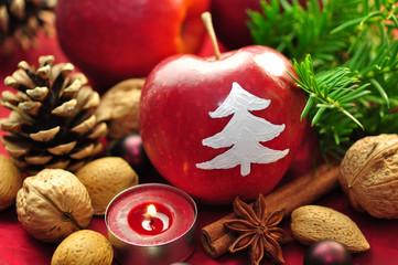 Weihnachten,Apfel