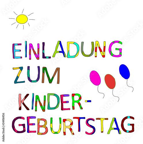 einladung kindergeburtstag: einladung kindergeburtstag, Einladung