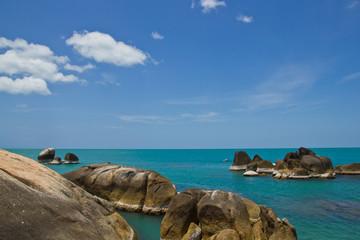 coastal rocks koh samui thailand
