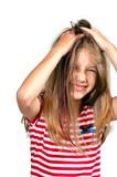 Fototapety Mädchen Haare Hände wühlen
