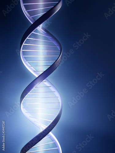 Glowing DNA strand
