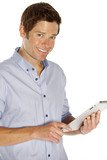 man using a touchpad
