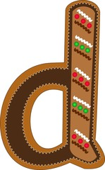 d gingerbread alphabet