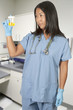 Woman Doctor with Urine Sample