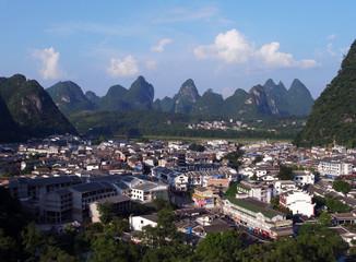 Yangshuo arial view
