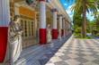 Leinwanddruck Bild - Achillion palace, Corfu island , Greece