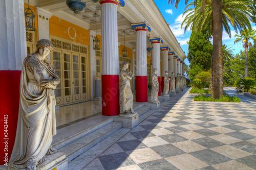 Leinwanddruck Bild Achillion palace, Corfu island , Greece