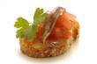 Bocadillo de tomate y anchoa