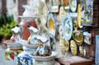 Traditional Italian ceramics - on display in souvenir shop