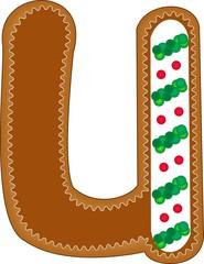 u gingerbread alphabet