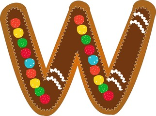 w gingerbread alphabet
