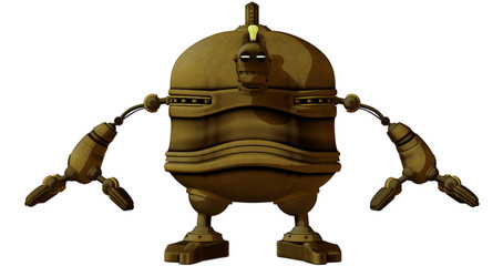 Cartoon Steam Punk Robot