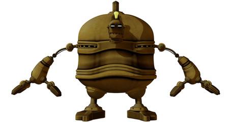 Cartoon Steam Punk Robot