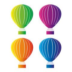 Color hot air balloon