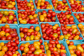 Cherry tomatoes on display