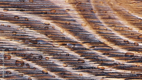 Wood texture with water drops