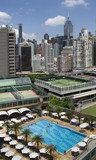 Roof top sport complex in downtown Hong Kong