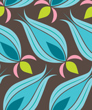 Ottoman Tulip Seamsless Pattern poster