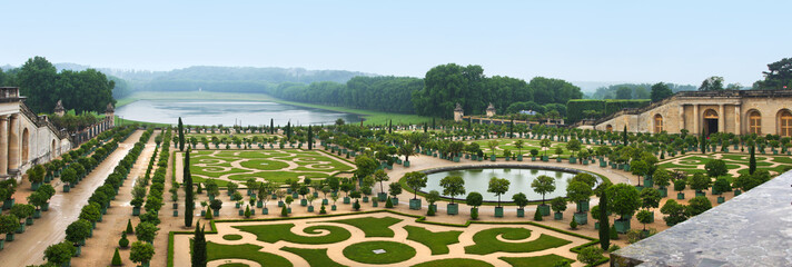 Landscaping architecture of palace Versailles, France