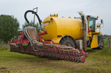 A large manure injector ready for take-off