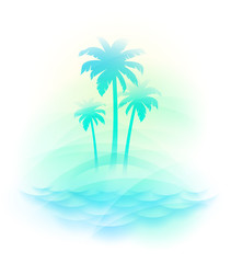 Vector illustration - Tropical island