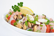 Delikater, mediterraner Meeresfrüchtesalat