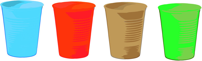 bicchieri plastica colorati