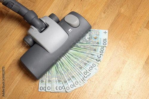 Vacuuming money