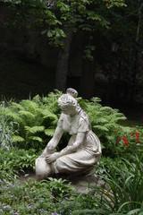 White statue of beauty woman
