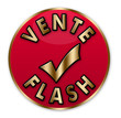 "Bouton rouge et or ""vente flash"""