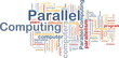 Parallel computing background concept