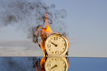 time is a fire