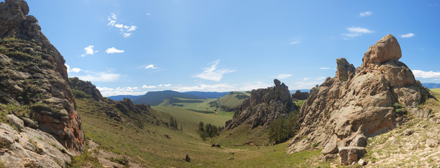 Barguzin valley. Summer landscape. Russia