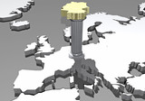 Cartina Germania 3d colonna