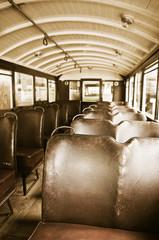 vintage bus seats