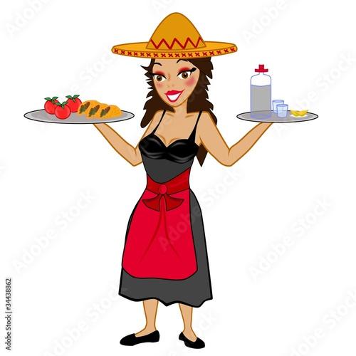 mexikanische Kellnerin