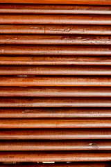 round teak wood wall