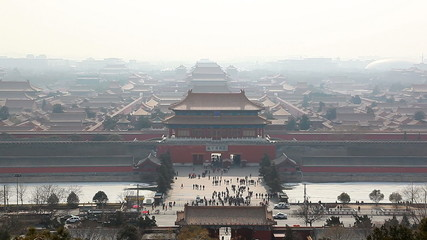 aerial view of the forbidden city